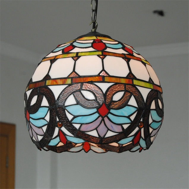 Coupcou.com: Modern Art Tiffany Crafts Nordic Glass Patch Lamp Shade Lustre Vanity Hanging Pendant Light Fixtures Handicrafts Chandelier Christmas Decor for Home Restaurant Coffee Luminaire DFNDD-04