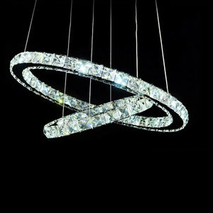 Coupcou.com: Popular Diamond Ring LED Crystal Pendant Light Modern Circles Hanging Lamp for Dining Room Lighting Home Decoration