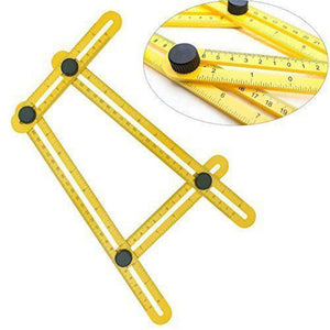 Coupcou.com: Multifunctional Four Folding Plastic Ruler Metric Scale Measuring Angle Ruler