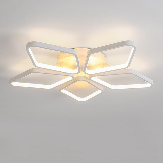 Coupcou.com: Modern Nature White LED Acrylic  Flush Mount Ceiling Light for Living  Kids Bedrooms Dining Room