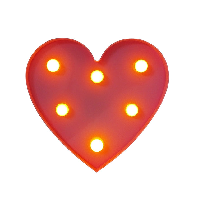 Coupcou.com: BRELONG 3D Warm White Kids Room  Night Light Christmas   Wedding Decorative 4.5V - Heart ( No Battery )