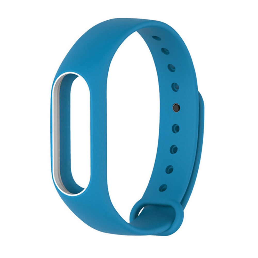 Colorful Silicone Wrist Strap Bracelet Double Color Replacement watchband for Miband 2 Xiaomi Mi...BLUES