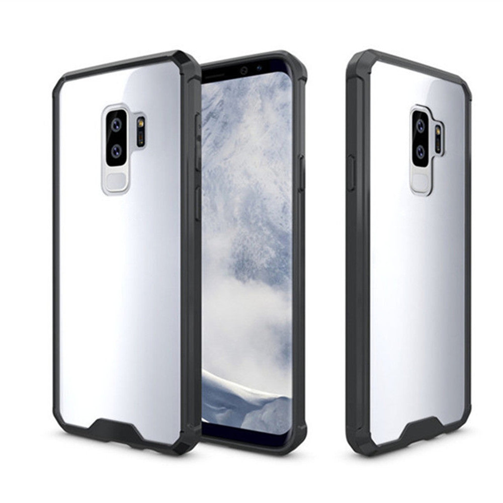 Cover Case for Samsung Galaxy S9 Plus Luxury Shockproof Hybrid Armor Crystal Hard PC Back Full P...BLACK