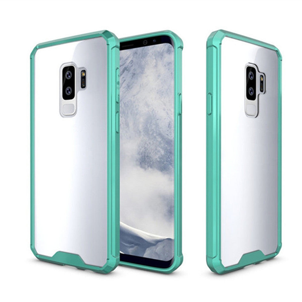 Cover Case for Samsung Galaxy S9 Plus Luxury Shockproof Hybrid Armor Crystal Hard PC Back Full P...GREEN