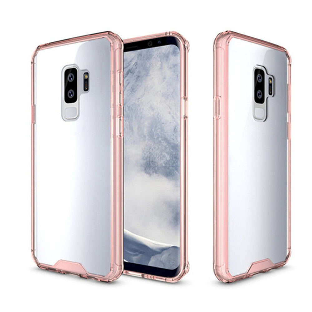 Cover Case for Samsung Galaxy S9 Plus Luxury Shockproof Hybrid Armor Crystal Hard PC Back Full P...PINK