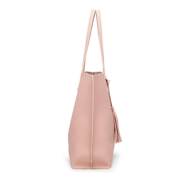 Coupcou.com: Handbags Woman PU Leather Large Capacity Female Shoulder Bags Solid Color Practi