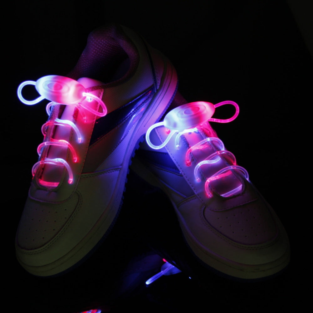 BRELONG Waterproof Luminous LED Color Shoelaces - A pairBLUE PINK