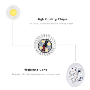 Coupcou.com: Supli 10 Pcs 5W Gu10 Led Spotlight 4 Cob 500 Lm Warm White / Cool White Dimmable Ac 220 - 240