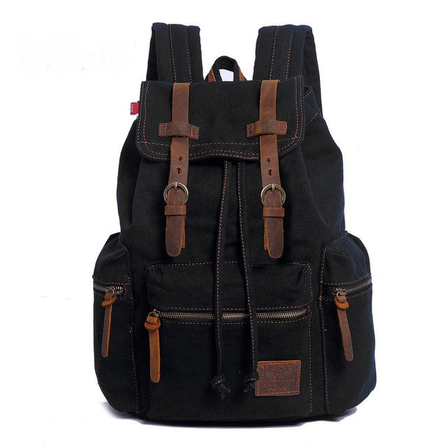 Coupcou.com: AUGUR Fashion Men Backpack Vintage Canvas School Bag Travel Large Capacity