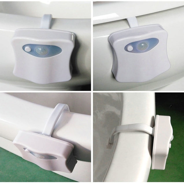 Coupcou.com: Colorful Motion Sensor Toilet Nightlight Home Toliet Bathroom Human Body Auto Motion Activated Sensor Seat Light Night