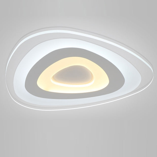 Coupcou.com: Ever-Flower Modern Acrylic LED Flush Mount Ceiling Light with Max 32W Painted Finish