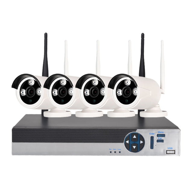 Coupcou.com: 4 Channel 1080P Wireless Security Camera System 1 x Wifi Nvr 4 x 2.0MP Wifi Ip Camera with Night Vision