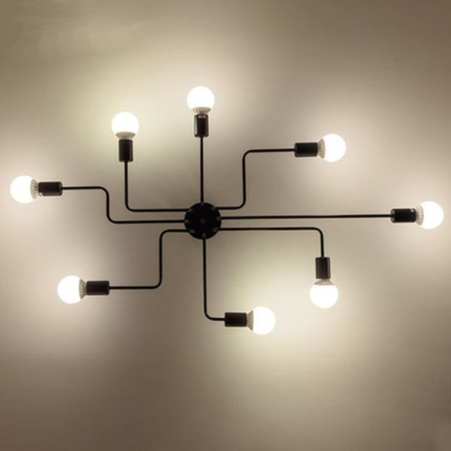 Coupcou.com: Ever-Flower 8 Head Retro Industrial Pendant Lamp Ceiling Light for Living Room Bedroom Clothing Store