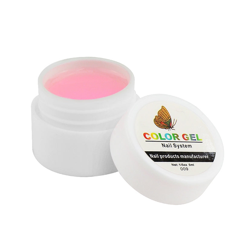 36 Pure Colors Pots Bling Cover UV Gel Nail Art Tips Extension Manicure#9