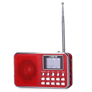 Coupcou.com: L - 938B Mini Digital Media Speaker with FM Radio USB TF Slot LED Display
