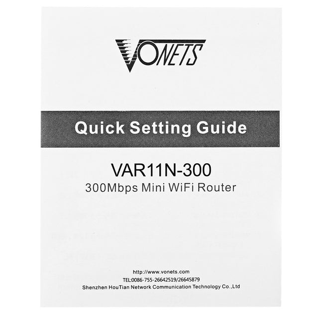Coupcou.com: Vonets VAR11N-300 Wireless 300Mbps Mini Network Router / Repeater WiFi Bridge