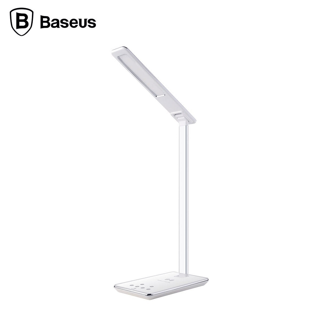 Baseus Ingert Series Foldable Wireless Charging Table Lamp with 4th Gear Temperature RegulationWHITE / US PLUG