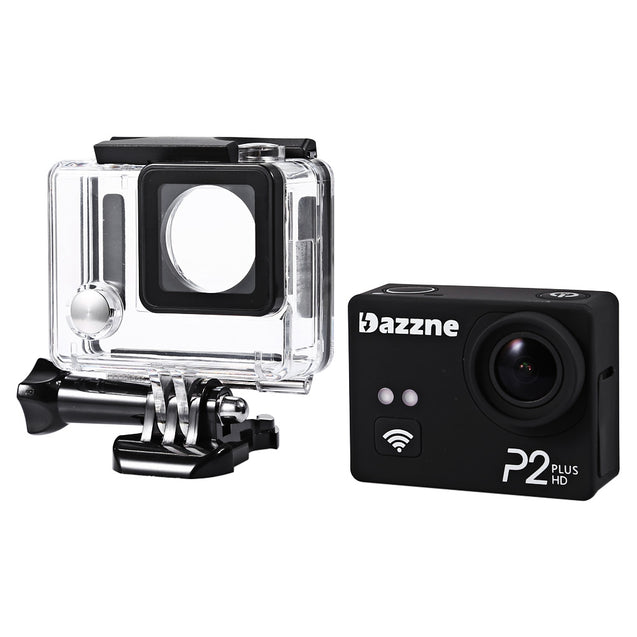 Coupcou.com: Original Dazzne P2 Plus 2K Super HD 170 Degree Wide Angle WiFi Action Camera with 2.0 inch TFT Screen Loop Cycle Recording Anti-Shake