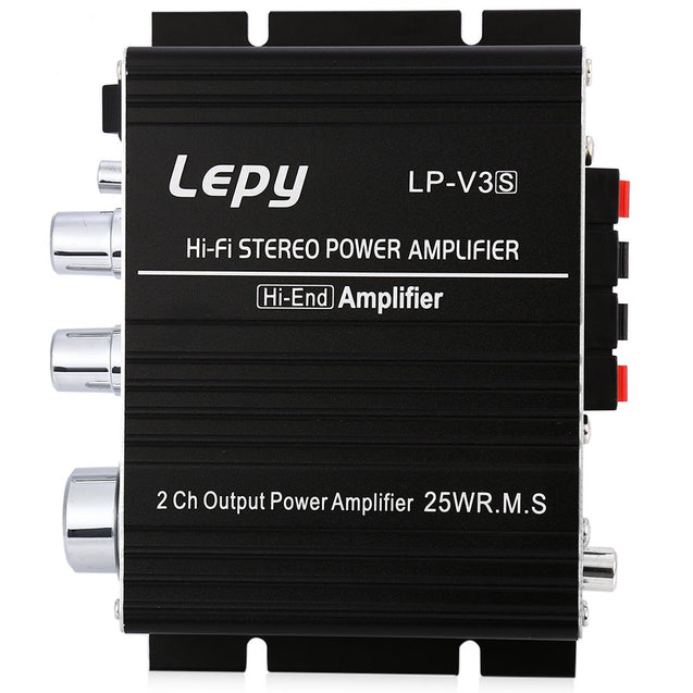 Coupcou.com: LP - V3 700W 12V Mini HiFi Stereo Digital Power Amplifier MP3 Car Audio Speaker with 3.5mm Audio Input