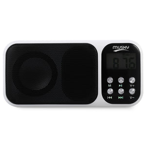 Coupcou.com: HJ - 92 Mini Digital Media Portable FM Radio Speaker MP3 Player with TF Card Slot AUX Audio Input