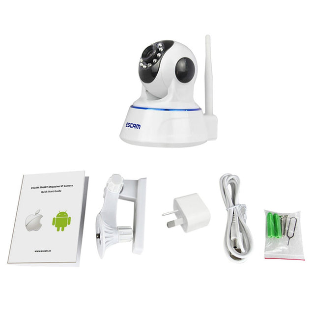 Coupcou.com: ESCAM QF002 IP Camera WIFI 720P P2P Night Vision Support Android IOS for Home Company