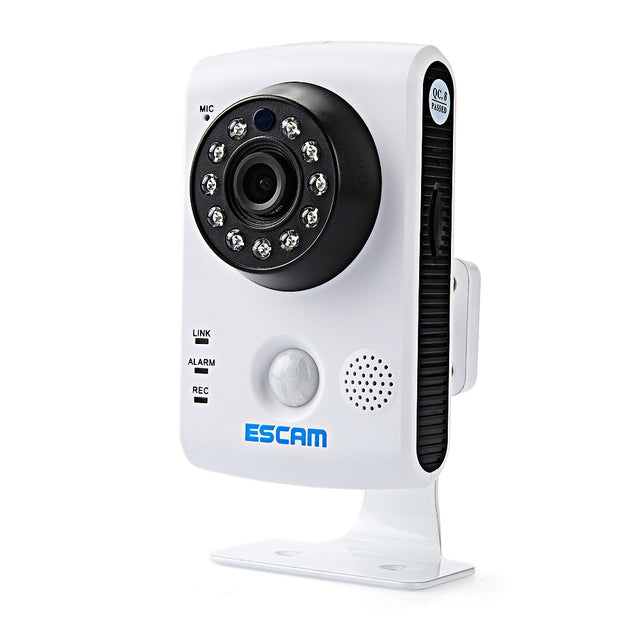 Coupcou.com: ESCAM QF502 P2P HD WiFi IP Camera IR Cut Night Vision Support Two Way Audio
