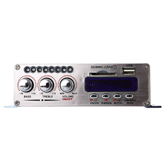 Coupcou.com: Kentiger HY - 502S Mini 2CH Bluetooth HiFi Stereo Audio Output Power Amplifier with Remote Controller