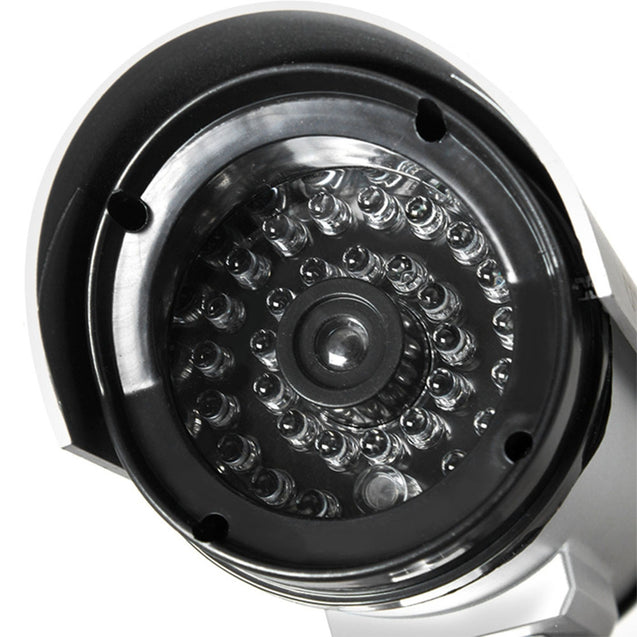 Coupcou.com: Imitation Security Camera with Activation Red Light ABS Material Bullet Shape 360 Degrees Rotation