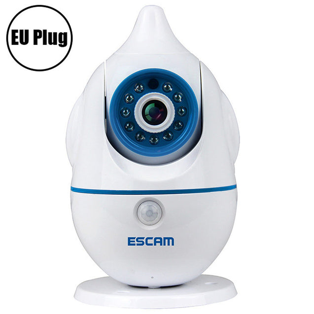 Coupcou.com: ESCAM Penguin QF521 Wireless WiFi Baby Monitor 1.0MP Support Two-way Audio Pan / Tilt Rotation