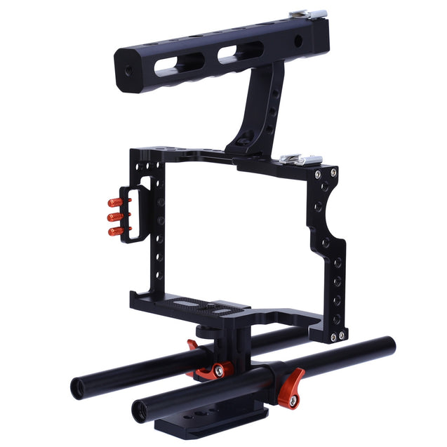 Coupcou.com: CS - V5 Standard 15MM Rod Video Stabilizer Aluminum Camera Cage Rig for Micro DSLR