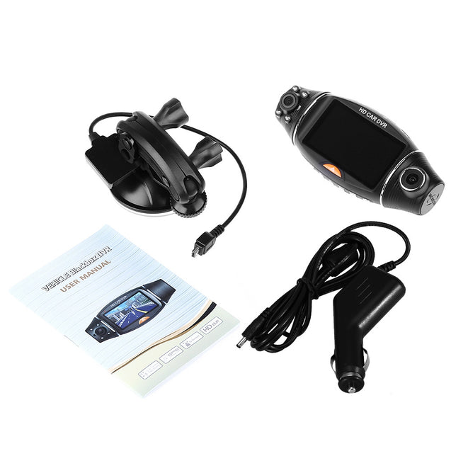 Coupcou.com: 2.7 inch R310 Dual Lens Car DVR IR Night Vision Rear View Camera Recorder