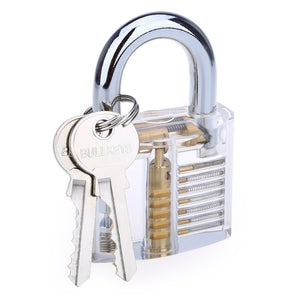 Coupcou.com: ZH - 0121 Transparent Practice Padlock Inside-view Pick for Locksmith