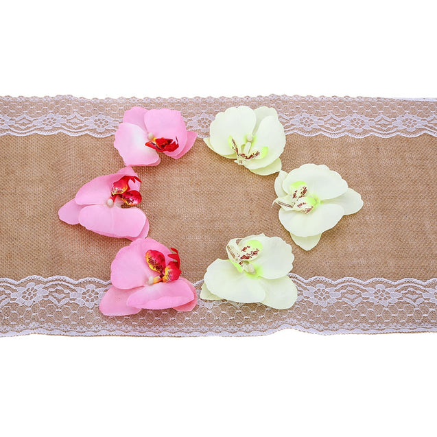 Coupcou.com: Burlap Lace Hessian Table Runner Natural Jute Wedding Festival Decoration