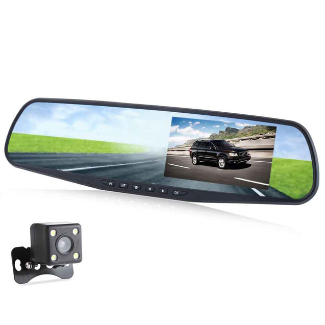 Coupcou.com: RH - A20 4.3 Inch Dual Lens Car DVR Recorder Full HD 1080P Loop Cycle Recording Night Vision Camera