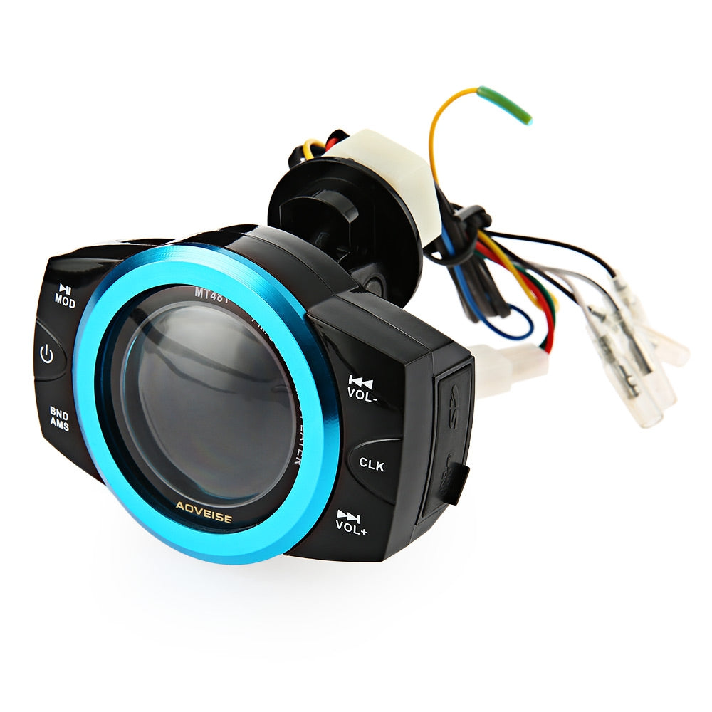AOVEISE MT481 Fashionable Motorcycle Audio Player Music Alarm Sound MP3 RemoterBLACK
