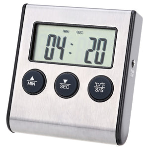 Coupcou.com: TS - BN50 Kitchen Craft Electronic Digital LCD Food Thermometer Metal Probe Cooking Timer