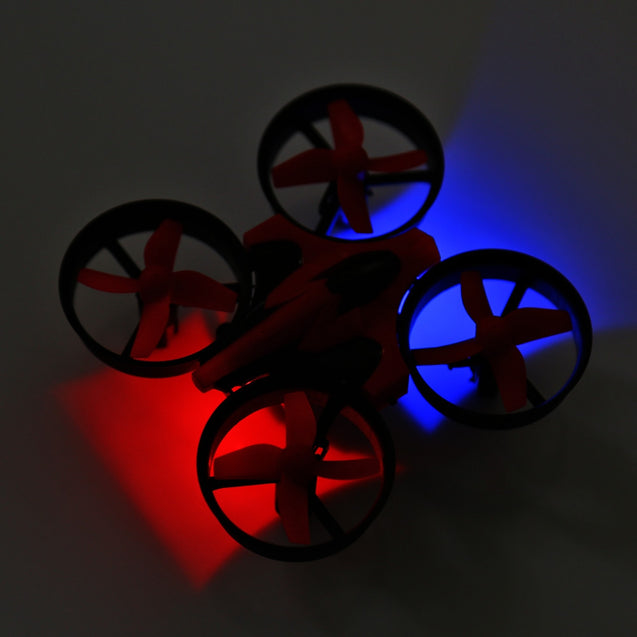 Coupcou.com: NIHUI NH - 010 2.4G 6CH 6 Axis Gyro Mini RC Quadcopter 360 Degree Flip One Key Return with LED Light