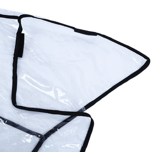 Coupcou.com: Folding Transparent Baby Stroller Rain-proof Wind-proof Cover