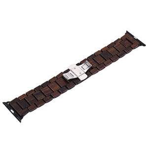 Coupcou.com: BEWELL ZS - B01 24MM Wooden Watch Strap Butterfly Clasp Wristband