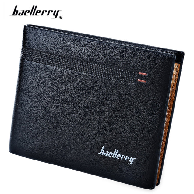 Coupcou.com: Baellerry Old Classical Style Dot Stripe Business Men Short Clutch Wallet Photo Cash Card Holder