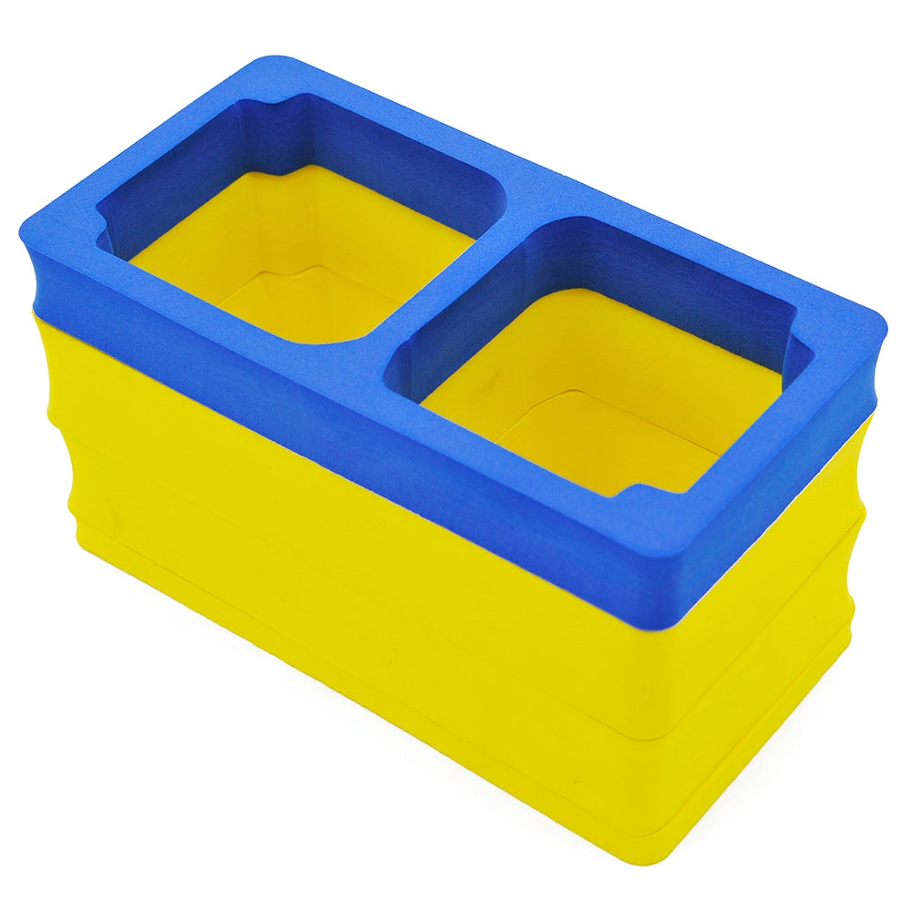 Caden P1 Universal Shockproof Camera Video Insert Storage Bag LinerBLUE AND YELLOW
