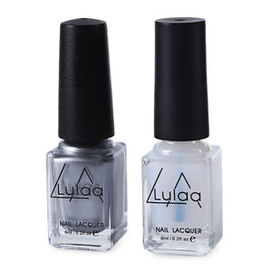 Coupcou.com: LULAA Magic 2pcs 6ml Silver Mirror Effect Metal Nail Polish Varnish Top Coat