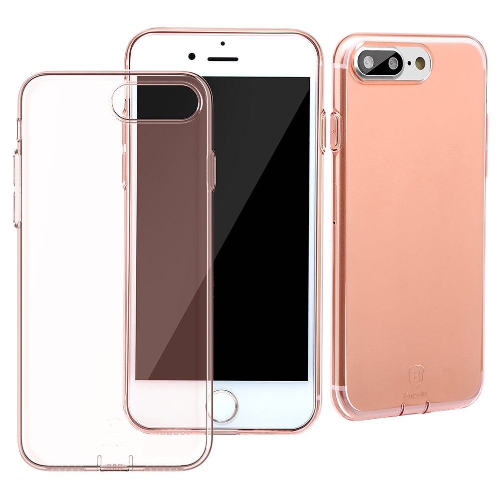 Baseus 5.5 inch Ultra Slim Transparent Protective Dustproof Comfortable Phone Case Protector Cov...ROSE GOLD