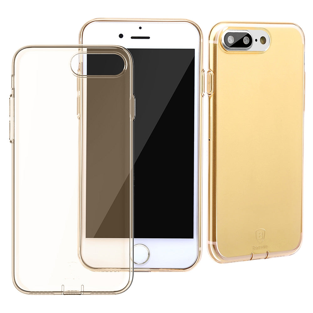 Baseus 5.5 inch Ultra Slim Transparent Protective Dustproof Comfortable Phone Case Protector Cov...TYRANT GOLD