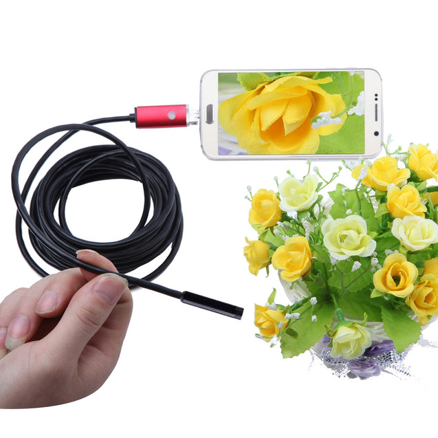 Coupcou.com: AN99 2-in-1 USB Micro Connector 8MM Endoscope Borescope Inspection Wire Camera