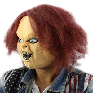 Coupcou.com: Horror Latex Mask for Child Play Chucky Action Figures Masquerade Halloween Party Bar Supply