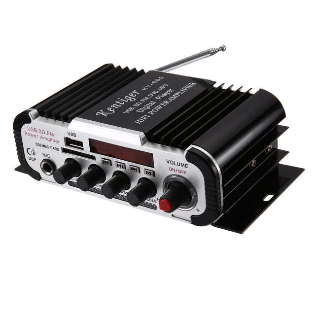 Coupcou.com: Kentiger HY - 600 IR Control FM MP3 USB Playback Digital Audio Amplifier