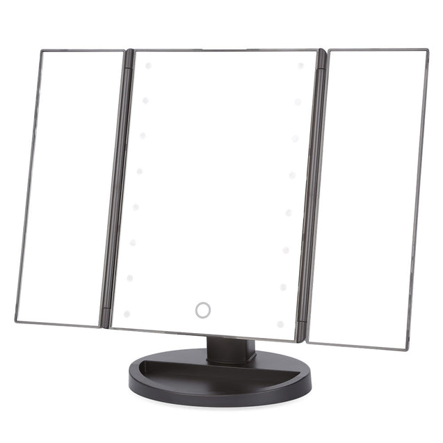 Coupcou.com: Portable Folding Table 16 LEDs Lamp Luminous Cosmetic Mirror