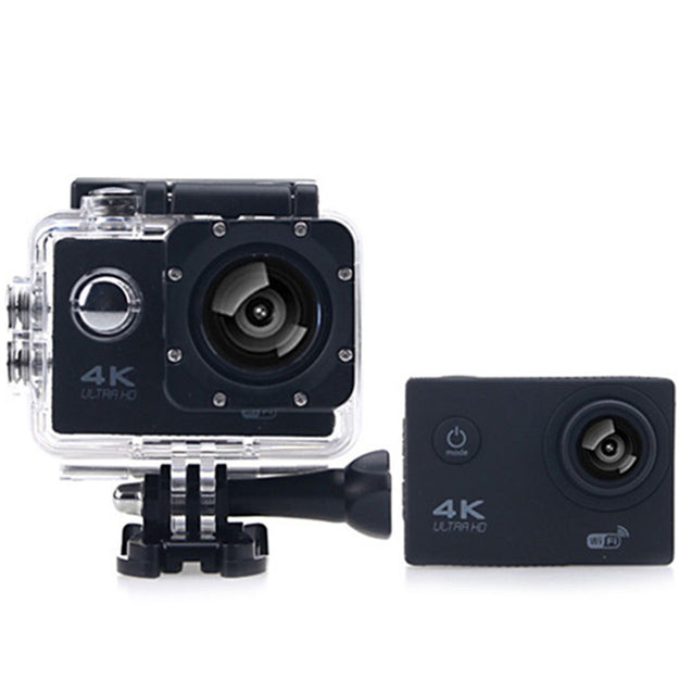 Coupcou.com: F60B 4K WiFi 170 Degree Wide Angle 2.0 inch LCD Screen Action Sports Camera Loop Cycle Recording