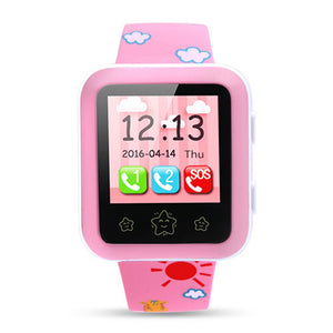 Coupcou.com: RWATCH XIAO R 1.22 inch Children GPS Smartwatch Phone Touch Screen MTK6261 SOS WiFi Bluetooth Family Numbers IP65 Water-resistant